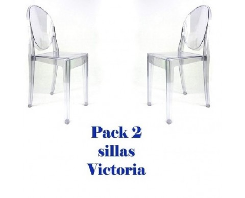 Pack 2 sillas Victoria Ghost Transparentes