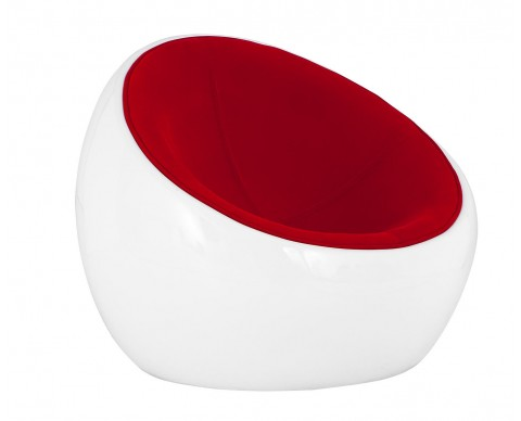 Pouf Ball Relax Chair Tela roja